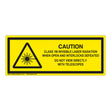 Caution/Class 1M Invisible Laser Label (IEC-6003-F05-H)