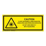 Caution/Class 1M Invisible Laser Label (IEC-6003-F05-H)