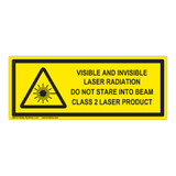 Visible and Invisible Laser Class 2 Label (IEC-6003-F13-H)
