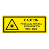 Caution Visible And Invisible Class 1 Label (IEC-6003-F19-H)