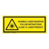 Invisible Laser Radiation Class 1C Label (IEC-6003-F1C-H)