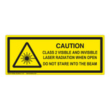 Caution/Class 2 Visible Label (IEC-6003-F21-H)