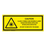 Caution/Class 2 Visible And Invisible Label (IEC-6003-F29-H)