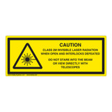 Caution/Class 2M Invisible Label (IEC-6003-Y52-H)