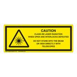 Caution/Class 2M Laser Label (IEC-6003-Y57-H)