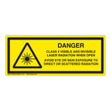 Danger/Class 4 Visible And Invisible Label (IEC-6003-Y58-H)