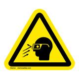 Flying Debris/Wear Safety Glasses Label (IS3021-)