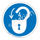 Lock Out/Electrical Power Label (IS6011-)