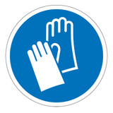 Wear Protective Gloves Label (IS6033-)