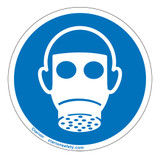 Wear Respiratory Protection Label (IS6052-)