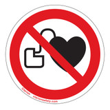 No Pacemakers Label (IS6063-)