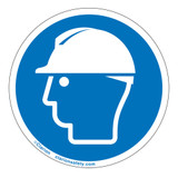 Wear Head Protection Label (IS6087-)