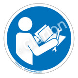 Read Technical Manual Before Servicing Label (IS6127-)