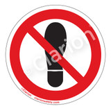 Do Not Step Label (IS6162-)