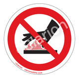Do Not Touch/Hot Surface Label (IS6165-)