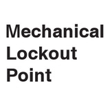 Mechanical Lockout Point Label (LP005-)