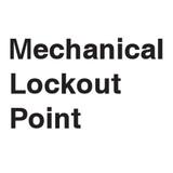 Mechanical Lockout Point Label (LP005-)