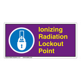 Ionizing Radiation Lockout Point Label (LP007-)