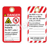 Danger/Asphyxiation Hazard Tag (ST1008a-1)