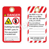 Danger/Cutting Hazard Tag (ST1015a-1)