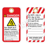 Danger/Arc Flash and Shock Hazard Tag (ST1018a-1)