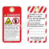 Danger/Skin Injection Hazard Tag (ST1021a-1)