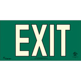 Series 400 UL 924 PVC Exit Sign - Green Background (UL441)