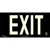 Series 400 UL 924 PVC Exit Sign - Black Background (UL451)