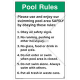 Pool Rules/Please Use Sign (WSS1018-SOD4U) )