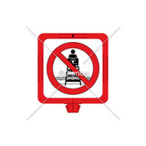 No Lifeguard on Duty Sign (WSS1601-34f) )