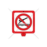 No Diving Sign (WSS1603-34f) )