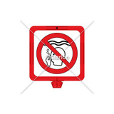 No Long Breath Holding Sign (WSS1606-34f) )