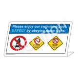 No Diving/No Long Breath Holding Sign (WSS1748-37g-e) )