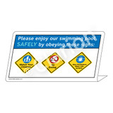 Watch Your Children/No Diving/Non-Swimmers WearSign (WSS1750-37g-e))