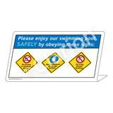 No Diving/Non-Swimmers Wear/No Long Breath Sign (WSS1755-37g-e) )