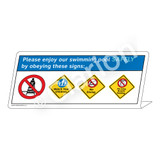Watch Your Children/No Diving/No Long Breath Sign (WSS1762-38g-e) )