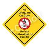 No Lifeguard on Duty Sign (WSS2101-02a-esm) )