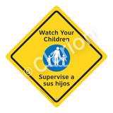 Watch Your Children Sign (WSS2102-02b-esm) )