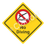 No Diving Sign (WSS2103-02a-e) )