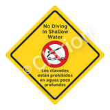No Diving in Shallow Water Sign (WSS2104-02a-esm) )