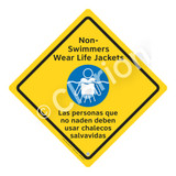 Non-Swimmers Wear Life Jackets Sign (WSS2105-02a-esm) )