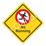No Running Sign (WSS2107-02a-e) )
