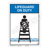 Lifeguard on Duty Sign (WSS2152-03b-e) )
