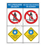 No Lifeguard on Duty/Non-Swimmers Wear Sign (WSS2204-06b-esm) )