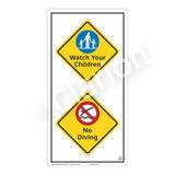 Watch Your Children Sign (WSS2211-50b-e) )
