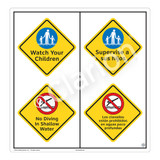 Watch Your Children Sign (WSS2212-51b-esm) )