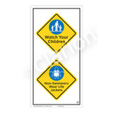 Watch Your Children Sign (WSS2213-50b-e) )