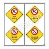 No Diving Sign (WSS2216-51b-esm) )