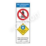 No Lifeguard on Duty/Non-Swimmers Wear Sign (WSS2254-42b-e))