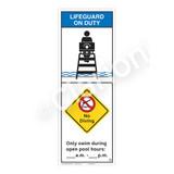 Lifeguard on Duty/No Diving Sign (WSS2257-42b-e) )